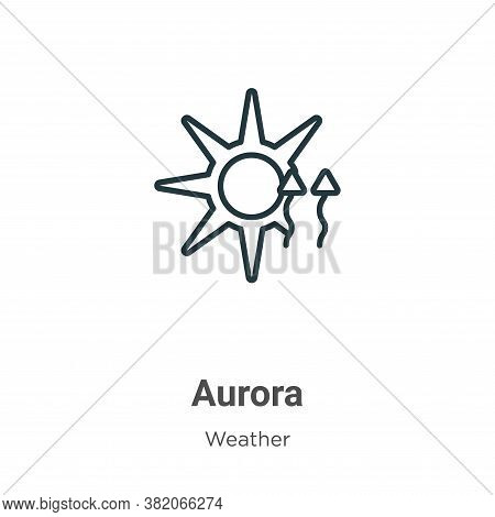 Aurora icon isolated on white background from weather collection. Aurora icon trendy and modern Auro