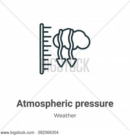 Atmospheric pressure icon isolated on white background from weather collection. Atmospheric pressure