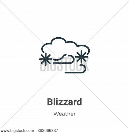 Blizzard icon isolated on white background from weather collection. Blizzard icon trendy and modern