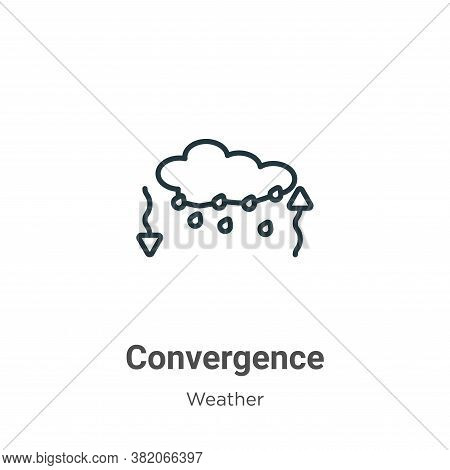 Convergence Icon From Weather Collection Isolated On White Background.