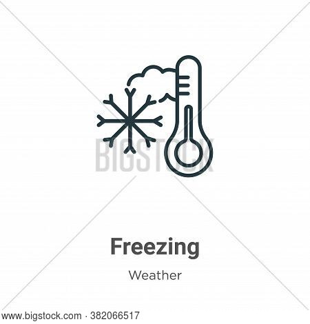 Freezing Icon From Weather Collection Isolated On White Background.