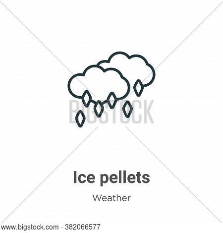 Ice pellets icon isolated on white background from weather collection. Ice pellets icon trendy and m