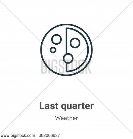 Last quarter icon isolated on white background from weather collection. Last quarter icon trendy and
