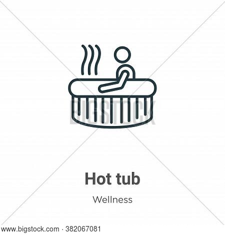 Hot tub icon isolated on white background from wellness collection. Hot tub icon trendy and modern H