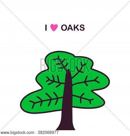 Love Oaks Hand Drawn Vector Photo Free Trial Bigstock Bonsai japanese cartoon vector tree growing in pot. bigstock