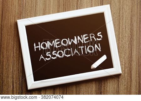 Homeowners Association. Hand Writing With Copyspace For Text. Nice Texture.