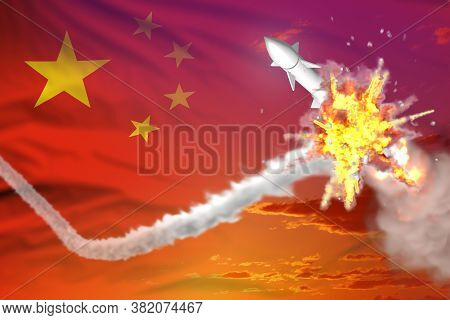 Strategic Rocket Destroyed In Air, China Nuclear Missile Protection Concept - Missile Defense Milita
