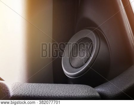 High-frequency Car Speaker Installed In A Car Door Panel,automotive Part Concept