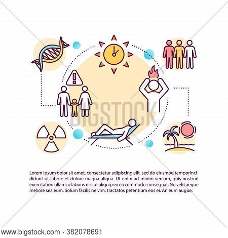 Skin Cancer Risk Factors Concept Icon With Text. Uv Exposure. Melanoma. Environmental Chemicals. Ppt