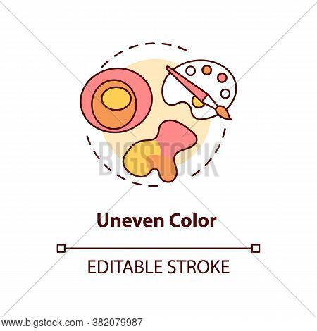 Uneven Color Concept Icon. Warning Symptomes. Abcdes Of Melanoma. Cancerous Spots. Atypical Moles Id