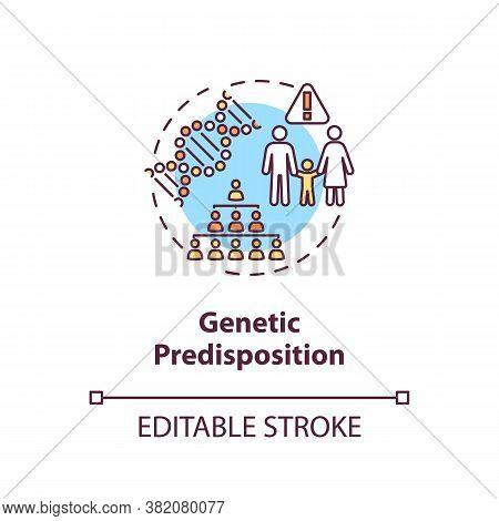 Genetic Predisposition Concept Icon. Dna Mutation. Human Disease Factors. Genetic Susceptibility Ide