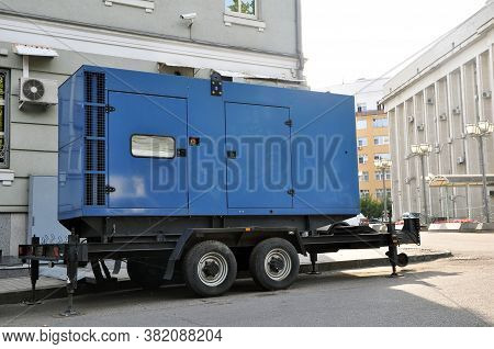 Blue Standby Mobile Diesel Generator For Office Building