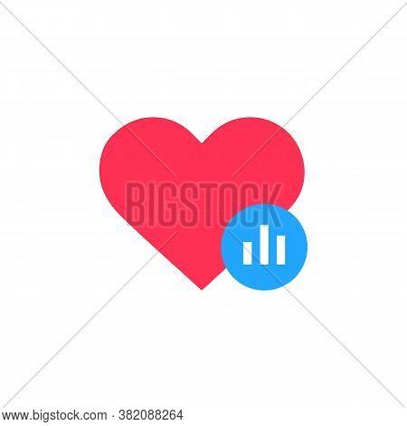 Heart Stats Icon. Heart Tracking Status Symbol. Vector Eps 10