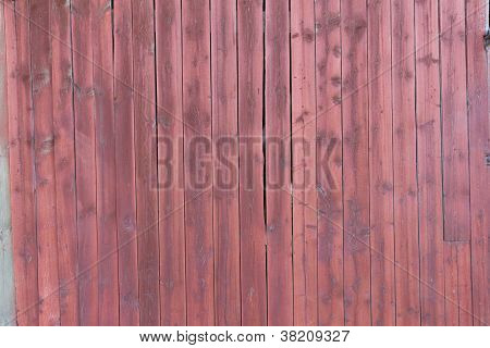 Old Red Plankd Barn Wall