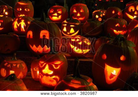 Carved Lighted Pumpkins