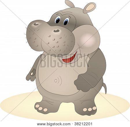 Vector hippopotamus