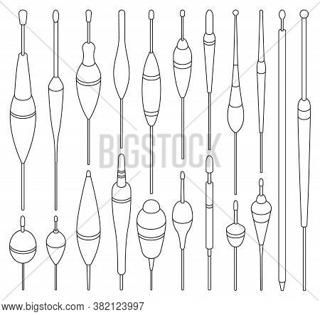 Fishing Floats Line Vector Set Illustration Of Icon.float Vector Set Of Icon.fishing Bobber Collecti