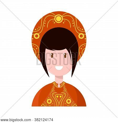 Vector Design Of Vietnamese And Woman Icon. Set Of Vietnamese And Girl Stock Symbol For Web.