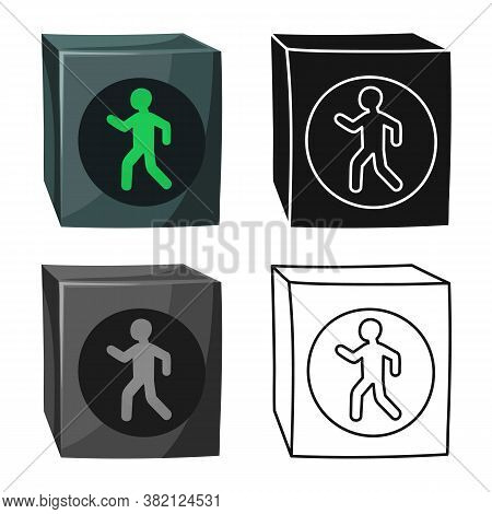 Vector Illustration Of Stoplight And Signal Logo. Graphic Of Stoplight And Svetofor Stock Symbol For