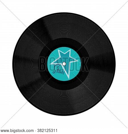 Vector Design Of Disk And Plate Symbol. Graphic Of Disk And Soundtrack Stock Vector Illustration.