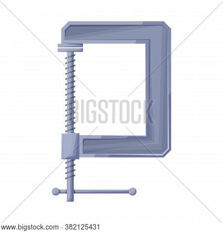 Vector Illustration Of Clamp And Screw Sign. Graphic Of Clamp And Vise Vector Icon For Stock.