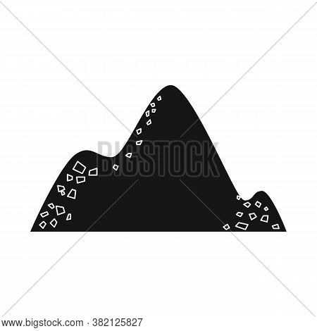 Isolated Object Of Cocain And Pile Icon. Graphic Of Cocain And Powder Stock Symbol For Web.