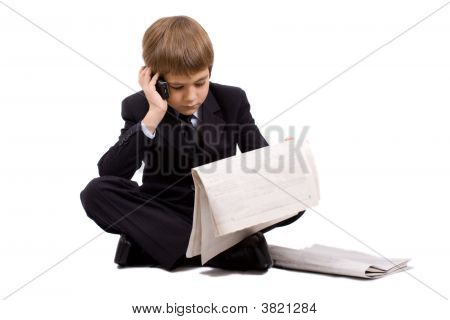 The Future Businessman Isolated Over White