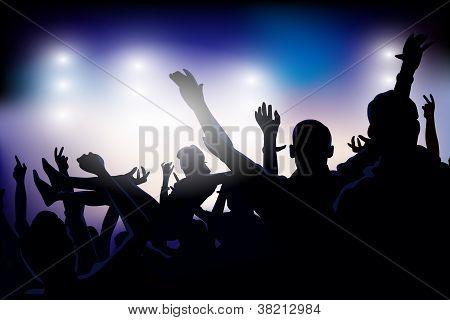 Vector Party Crowd