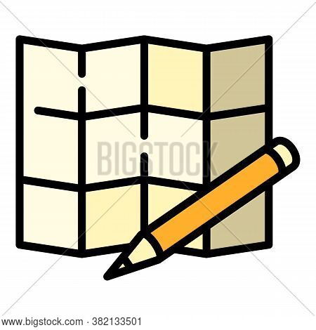 Architect Square Paper Icon. Outline Architect Square Paper Vector Icon For Web Design Isolated On W