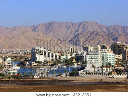 Eilat - Marina And Modern Hotels On The Red Sea