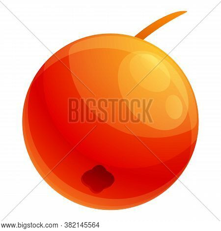 Red Rowan Berry Icon. Cartoon Of Red Rowan Berry Vector Icon For Web Design Isolated On White Backgr