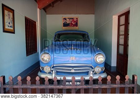 Hue, Vietnam, July 15, 2020: Austin Car In Which Thich Quang Duc Was Taken To His Self-immolation In