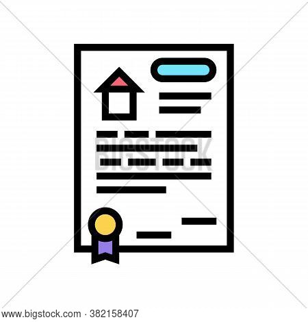 House Buy Agreement Color Icon Vector. House Buy Agreement Sign. Isolated Symbol Illustration