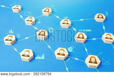 Connections Between People. Meritocracy And Autonomy. Communication Coordination. Exchange Of Inform