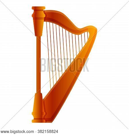 Harp Icon. Cartoon Of Harp Vector Icon For Web Design Isolated On White Background