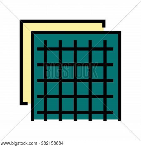 Insulation Grid Color Icon Vector. Insulation Grid Sign. Isolated Symbol Illustration