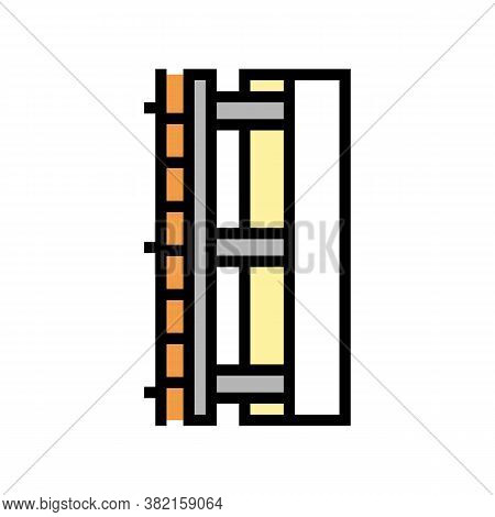 Wall Insulation Layer Color Icon Vector. Wall Insulation Layer Sign. Isolated Symbol Illustration