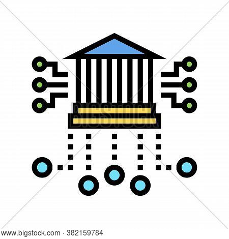 Financial Building Characteristics Color Icon Vector. Financial Building Characteristics Sign. Isola
