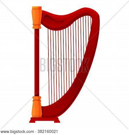Harp School Icon. Cartoon Of Harp School Vector Icon For Web Design Isolated On White Background