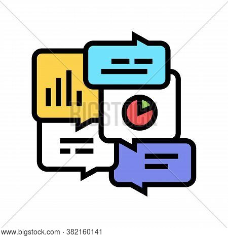 Office Tasks Discussing Color Icon Vector. Office Tasks Discussing Sign. Isolated Symbol Illustratio
