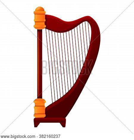 Harp Lesson Icon. Cartoon Of Harp Lesson Vector Icon For Web Design Isolated On White Background