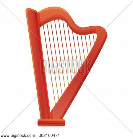 Harp Ancient Icon. Cartoon Of Harp Ancient Vector Icon For Web Design Isolated On White Background