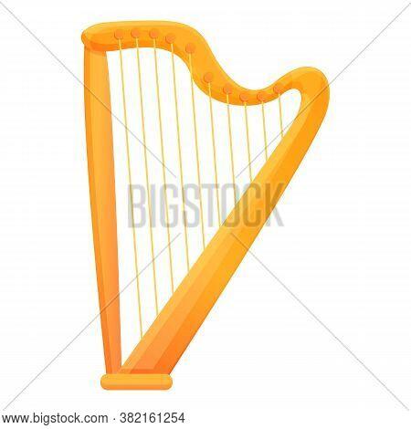 Retro Harp Icon. Cartoon Of Retro Harp Vector Icon For Web Design Isolated On White Background
