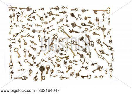 Old Vintage Keys Isolated