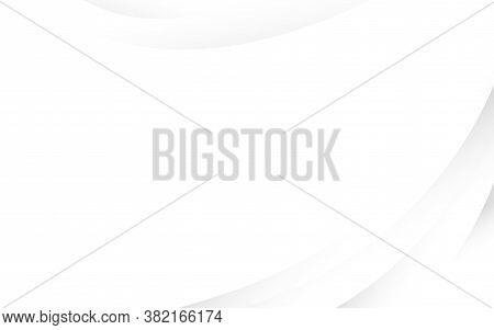 Abstract White And Soft Light Gray Wave Swoosh Smooth Line Curve Modern Texture With Space Backgroun