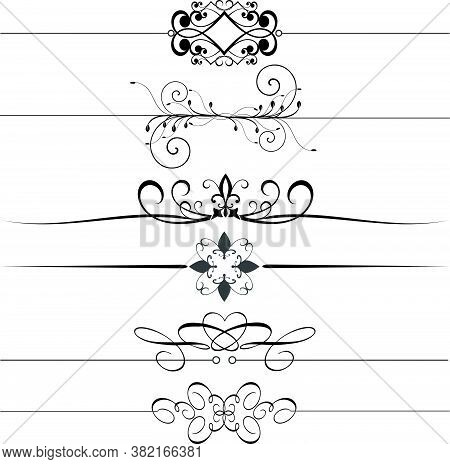 Ornamental Rule Lines.ornamental Rule Lines Vector.vector Ornamental Rule Lines.