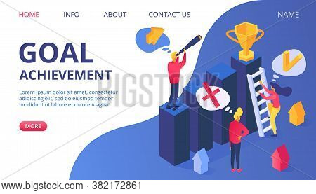 Reward For Success Business Goal Achievement, Award For Winner Flat Champion Vector Illustration. Pe