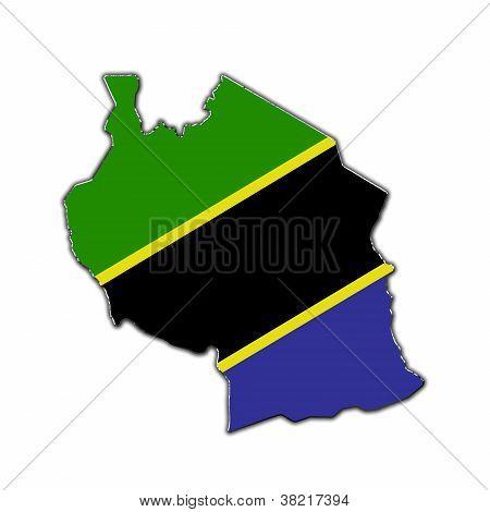 Stylized Contour Map Of Tanzania