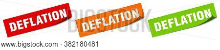 Deflation Sticker. Deflation Square Isolated Sign. Label