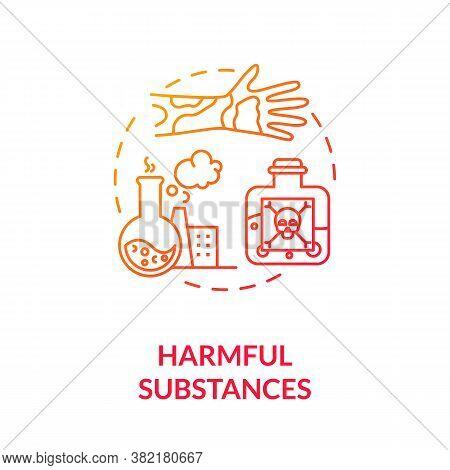 Harmful Substances Concept Icon. Dangerous Chemical. Oncology Risk Factors. Dermatology. Hazardous S